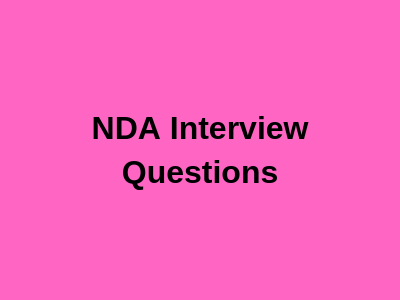NDA Interview Questions