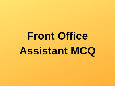 Front Office Assistant