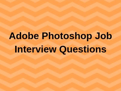 Adobe Photoshop Job