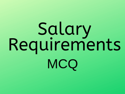 Salary Requirements