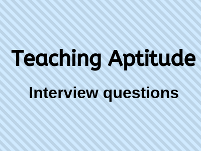 Teaching Aptitude(1)