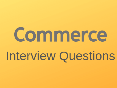 Commerce-interview-questions