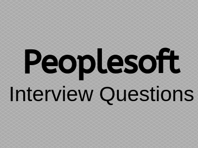 Peoplesoft-Interview-questions